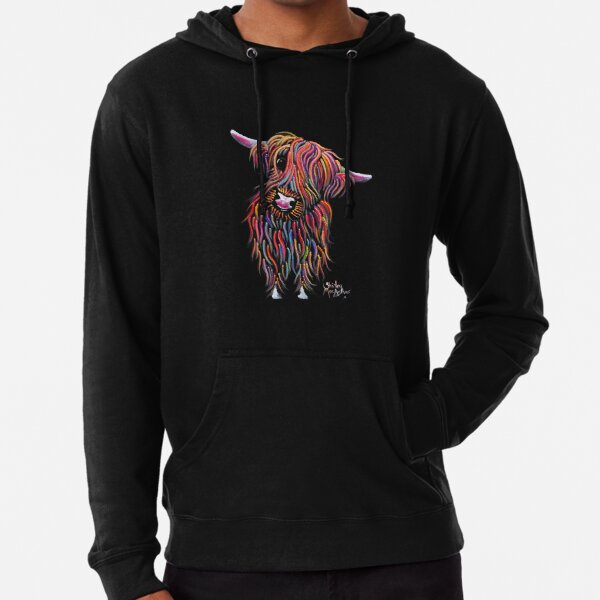 Scottish Highland Cow ' BoLLY ' by Shirley MacArthur Lightweight Hoodie