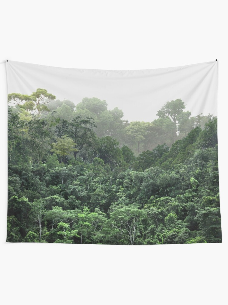 Alternate view of Tropical Foggy Forest Tapestry