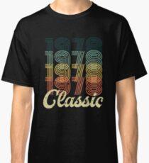 Vintage 1978 T-Shirt Retro Classic 70's 40 birthday gift Classic T-Shirt