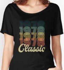 Camiseta ancha para mujer Vintage 1978 camiseta Retro Classic 70's 40 regalo de cumpleaños