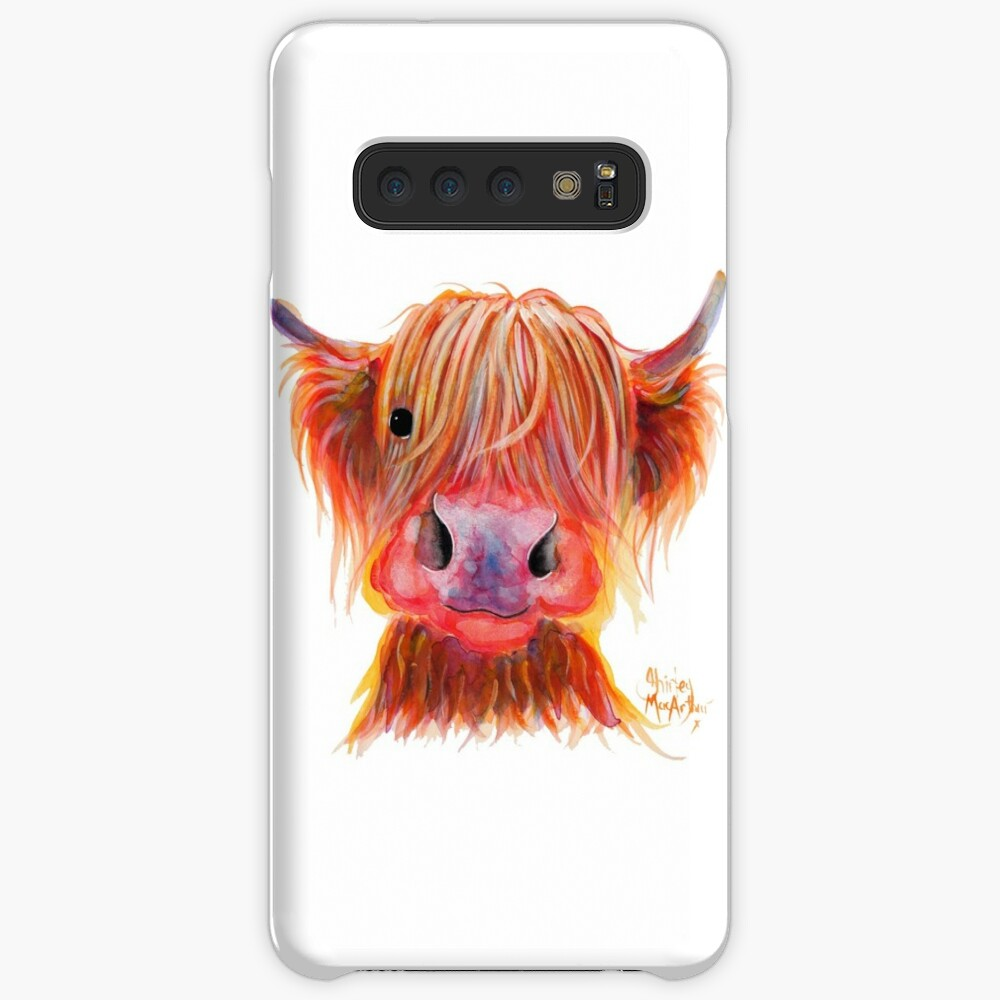 Scottish Highland Hairy Cow ' CHILLI CHOPS ' by Shirley MacArthur Case & Skin for Samsung Galaxy