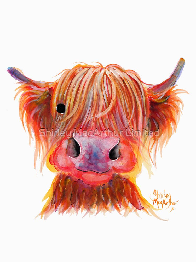 Scottish Highland Hairy Cow ' CHILLI CHOPS ' by Shirley MacArthur by ShirleyMacA