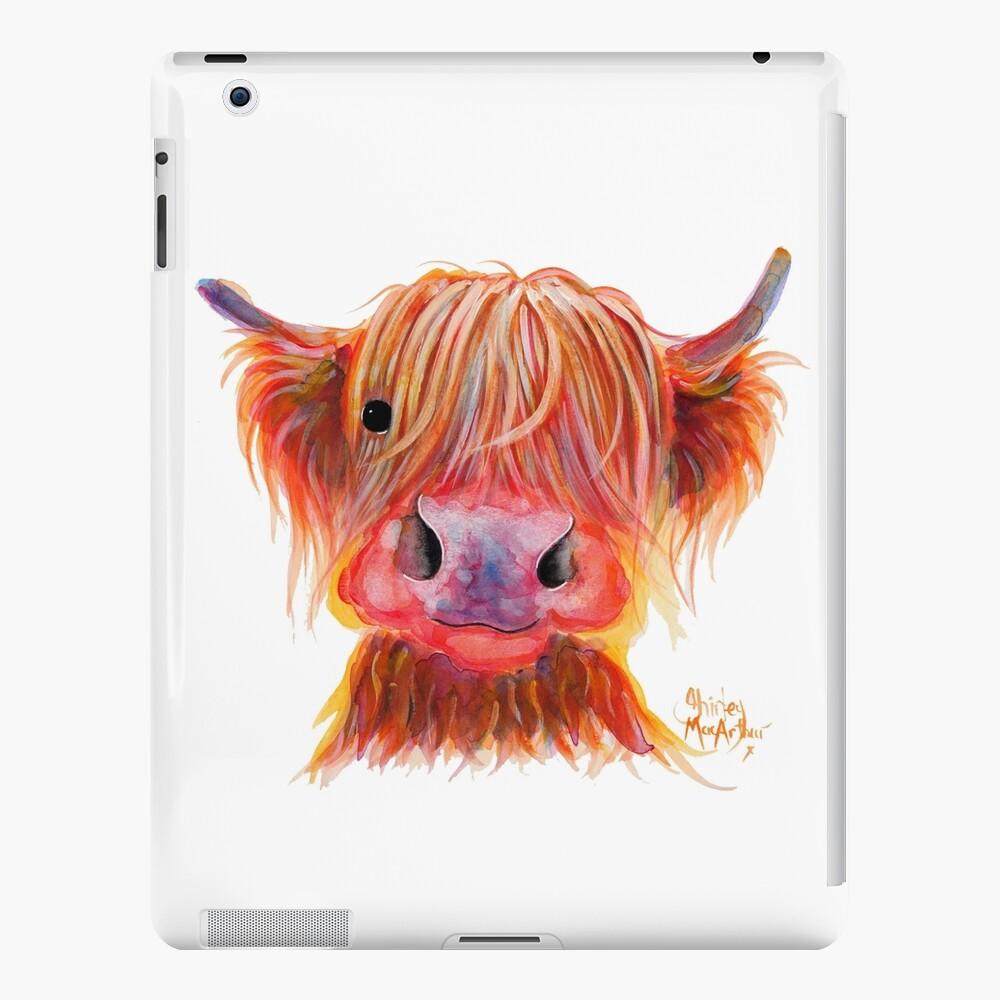 Scottish Highland Hairy Cow ' CHILLI CHOPS ' by Shirley MacArthur iPad Case & Skin