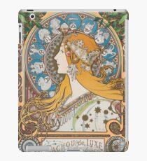 HD. Zodiac (First version), by Alphonse Mucha (1896) HIGH DEFINITION  iPad Case/Skin