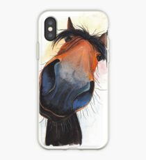 HORSE PRiNT 'HAPPY DAVE' BY SHIRLEY MACARTHUR iPhone Case