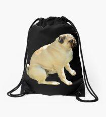 Grumpy Pug Drawstring Bag