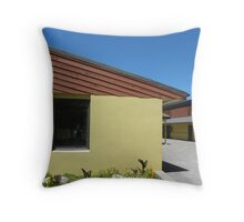 Behind The Store Front Throw Pillow
