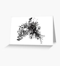 Hand Drawn Skull Queen Greeting Card