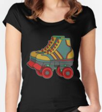 Classic & Cool Tshirt Design Roller Blades Women's Fitted Scoop T-Shirt