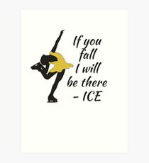 Beutiful and Charming Tshirt Design Ice Skater Art Print