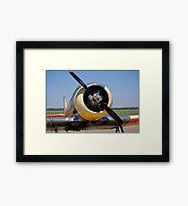 North American AT-6 Harvard Engine (SAAF 7637) (ZU-BBF) Framed Print
