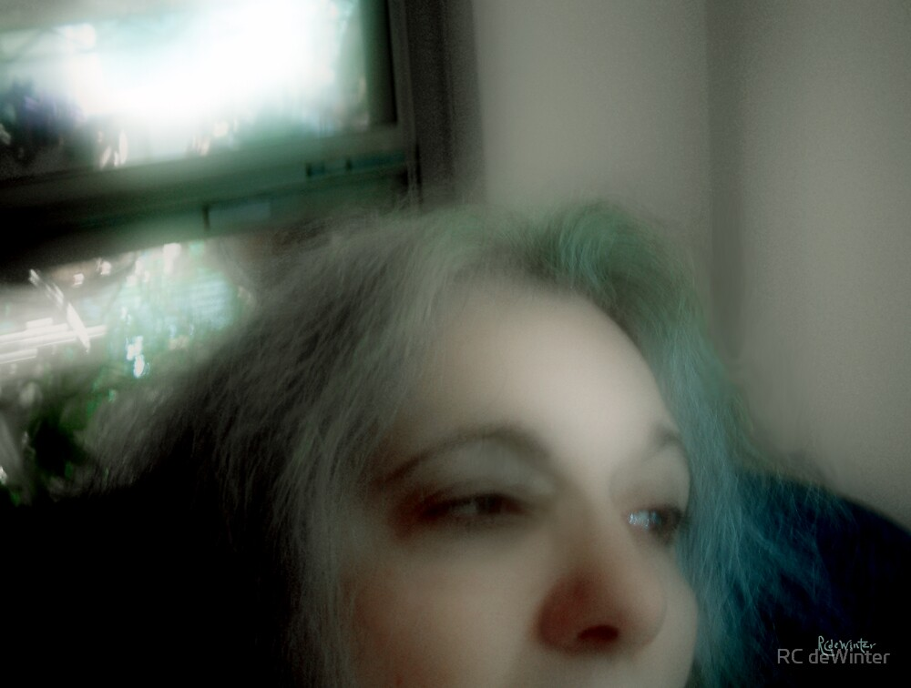 Contemplating Loss (Self-Portrait) by RC deWinter