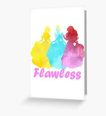 Flawless Inspired Silhouette Greeting Card