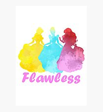 Flawless Inspired Silhouette Photographic Print