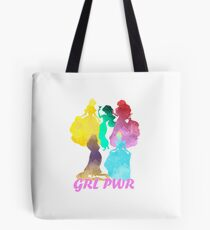 Girl Power Inspired Silhouette Tote Bag