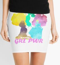 Girl Power Inspired Silhouette Mini Skirt