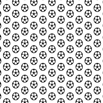 Simple Soccer Ball Motif Pattern by DFLCreative