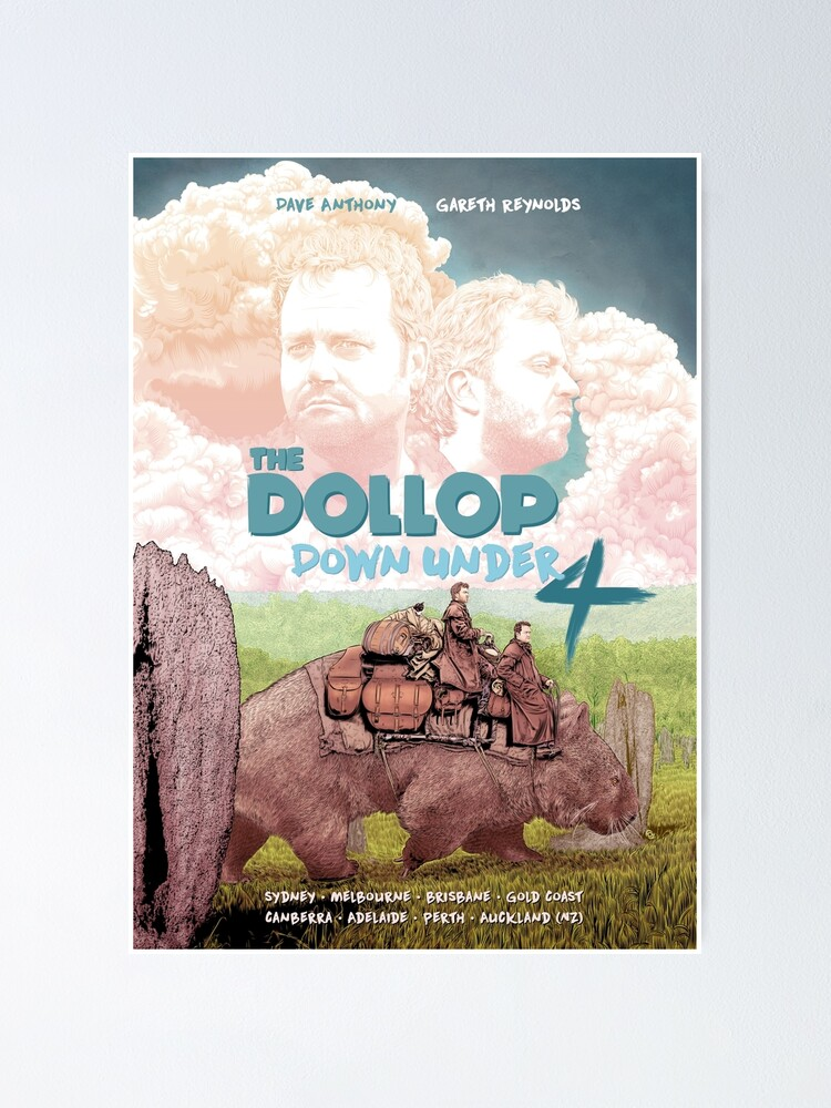 Alternate view of DOLLOP - Down Under 4 Tour Poster Poster