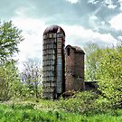 Abandoned Farm Silos by James Brotherton
