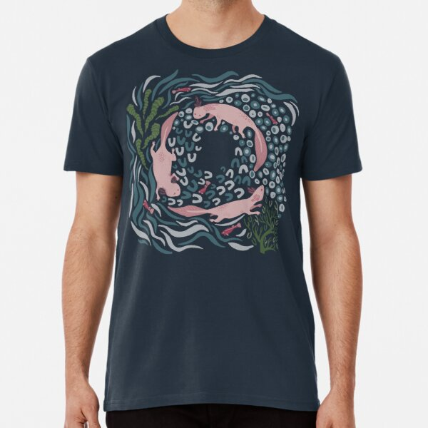 Axolotl Circle Premium T-Shirt