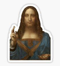 Salvator Mundi by Leonardo da Vinci Sticker