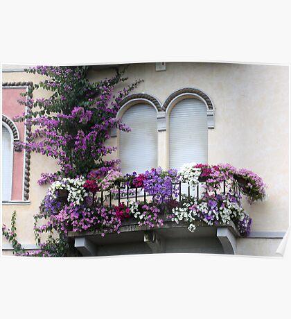 A nice balcony Poster