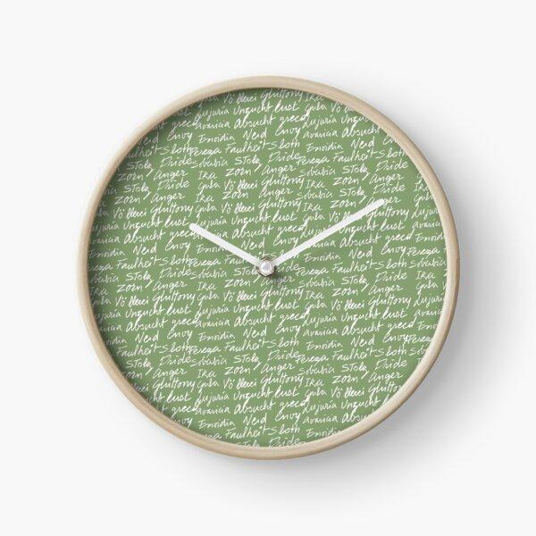 Los siete pecados capitales (color texto blanco) Reloj