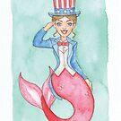 'Merica Mermaid - MerMonday July 2nd 2018 by dreampigment