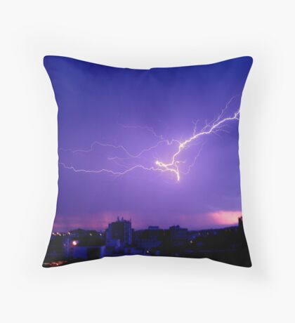 Thunderstorm with lightning Throw Pillow