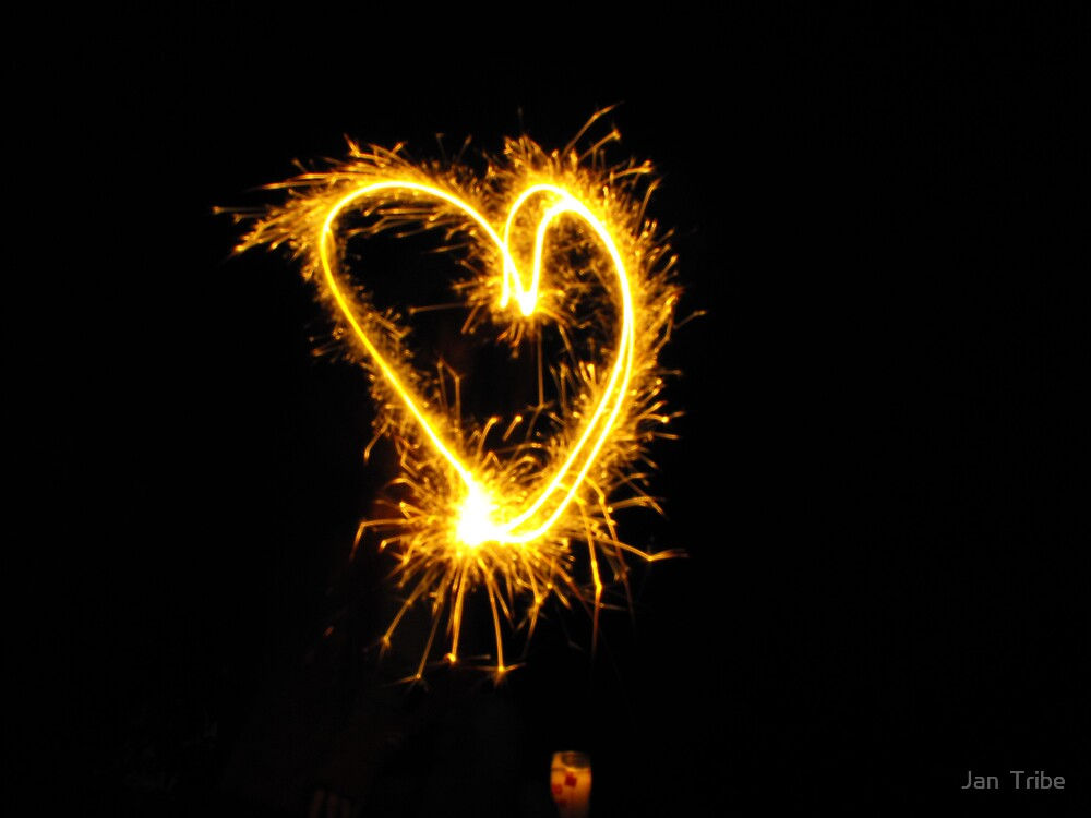 A 4th of July Sparkler Heart by Jan  Tribe
