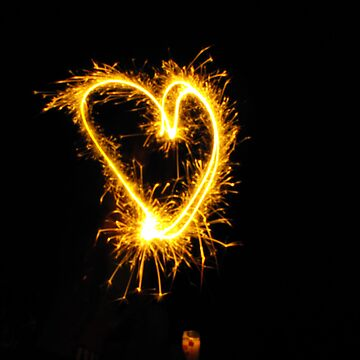 A 4th of July Sparkler Heart by shaneran