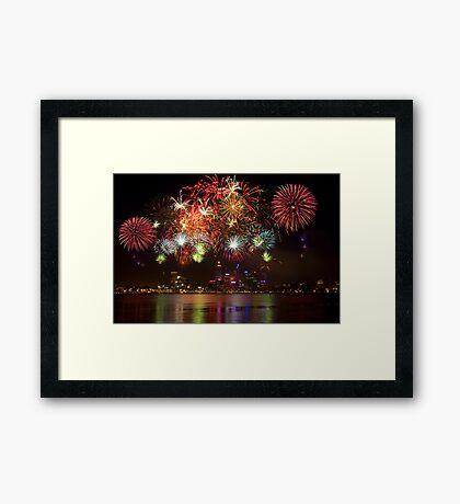 Fire Works Framed Print