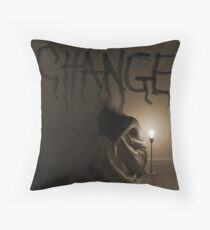 """The key to change... is to let go of fear."" Throw Pillow"