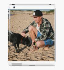 30. Chris & his Cattle-Staffy dog Bluey iPad Case/Skin