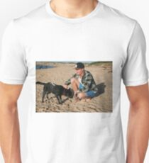 30. Chris & his Cattle-Staffy dog Bluey T-Shirt