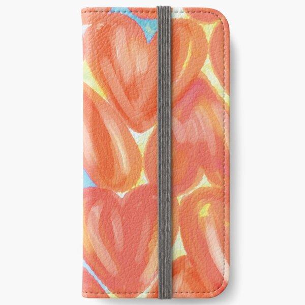 Aquarell Herzen  iPhone Flip-Case