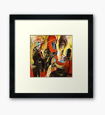 The Family Fire - Abstract Painting Framed Print