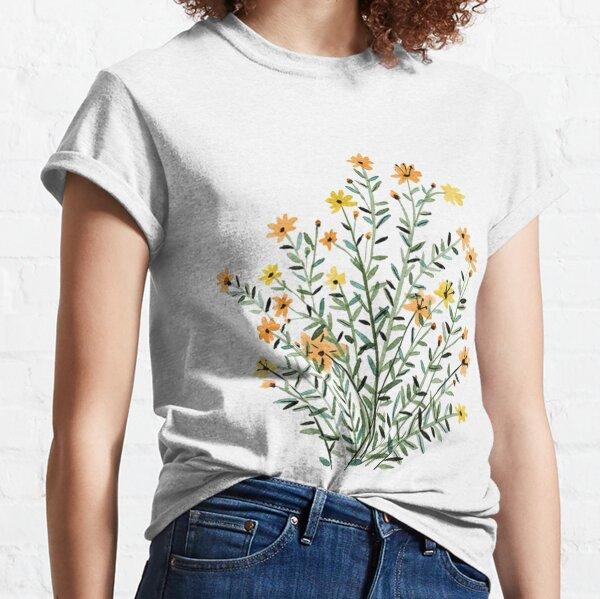 fleur de soleil floral jaune T-shirt classique