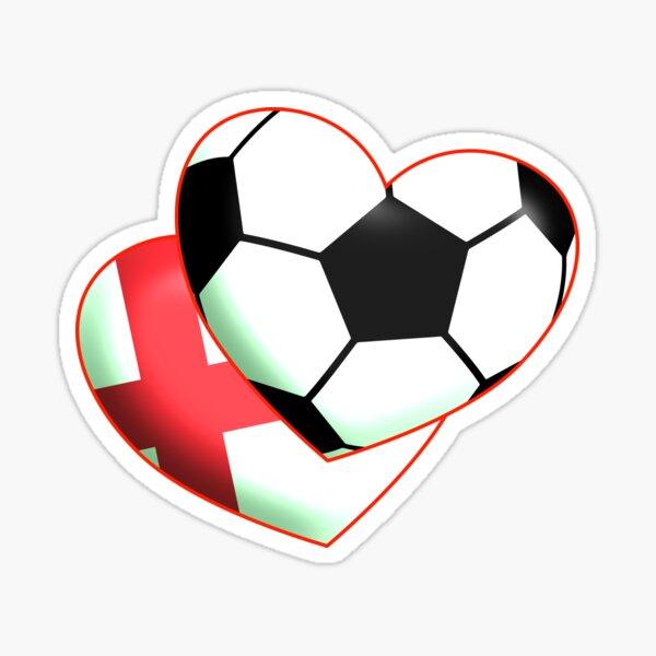 Fußballherz England Sticker