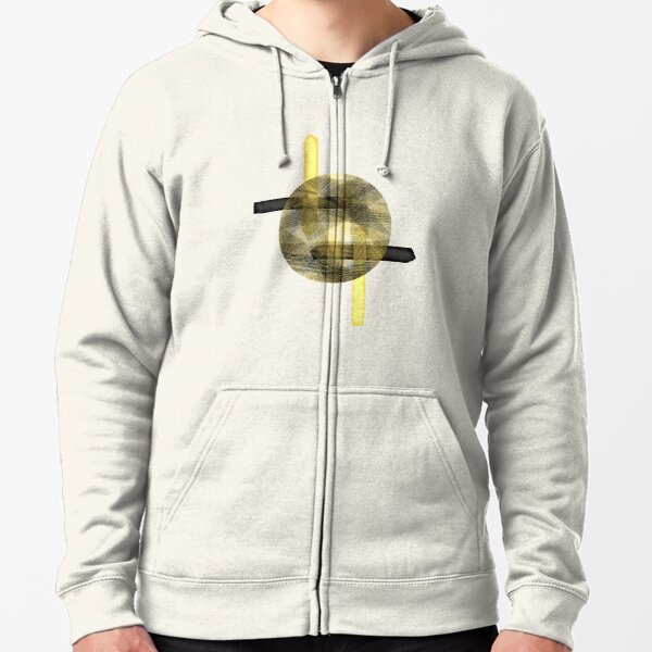 Eclipse #redbubble #abstractart Zipped Hoodie