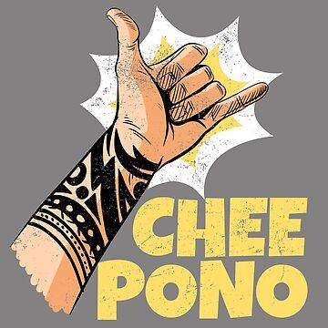 Chee Pono: Hang Loose Shaka Sign by friendlyspoon