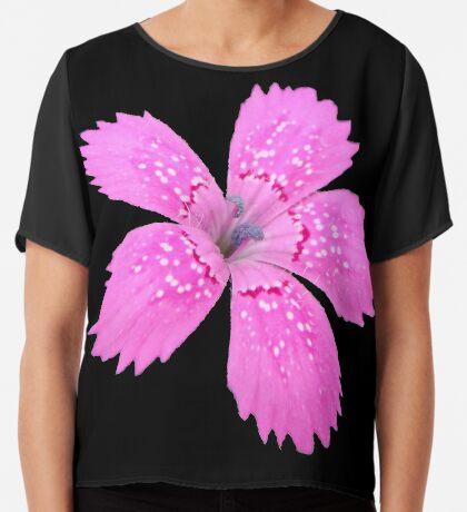 eine schöne Blume in der Farbe pink, Sommer, pastell Chiffontop für Frauen