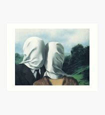 René Magritte – The Lovers II Art Print