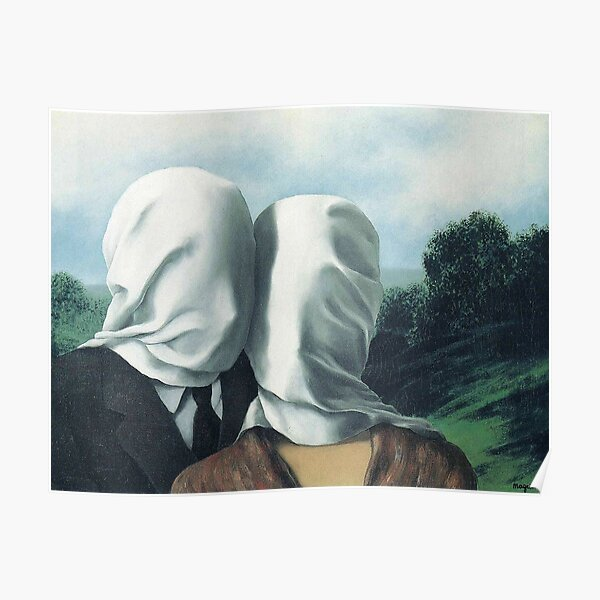René Magritte – The Lovers II Poster