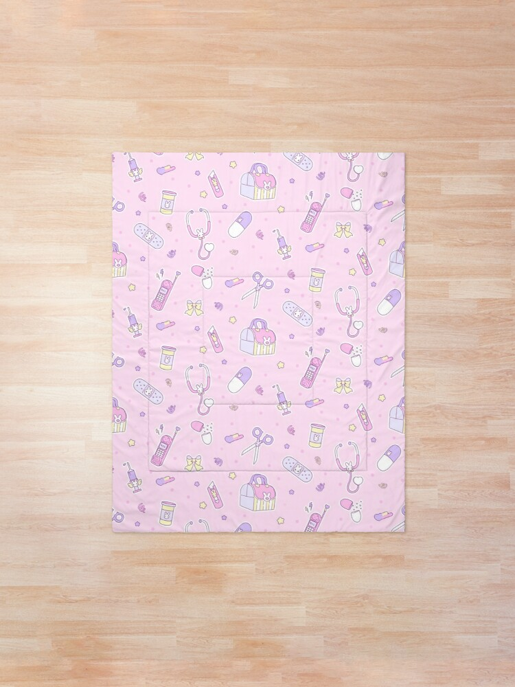 Alternate view of emotional - pink \ yellow Comforter