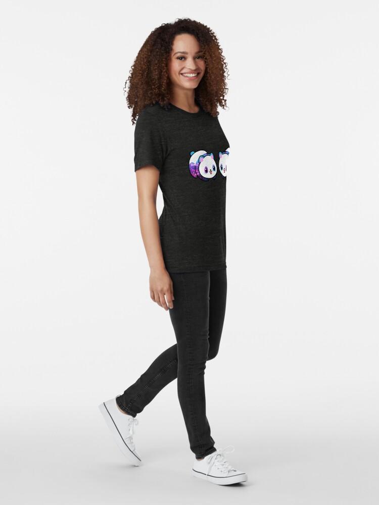 Vista alternativa de Camiseta de tejido mixto Patrón Kawaii Galactic Mighty Panda