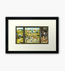 HD The Garden of Earthly Delights -FULL- by H. Bosch HIGH DEFINITION + original colors Framed Print
