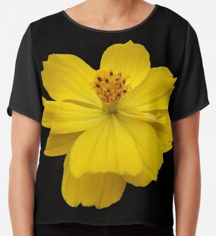wunderschöne Blume in gelb, Sommer, Sonne Chiffontop für Frauen