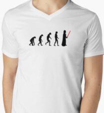 Evolution of the dark side Men's V-Neck T-Shirt