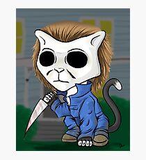 Michael Meowers - Halloween Stabby Cat Photographic Print